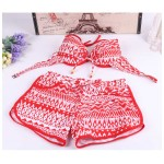 4 Pieces Swimsuits Sexy Bikini,Cover Ups,UnderWear For Girls Swimwear