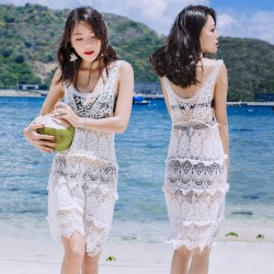 Women's Fashion Hollow Crochet Swimsuit Australia Swimwear Australia Bikini Australia Dress Beach Cover Up