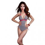 Foclassy® Women's Push-Up Plus Size Lovely Striped Monokini