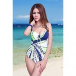 Women Straped One Pieces , Floral Push Up Strapped Padded Bras Underwire Bra Nylon Spandex Blue Green Red