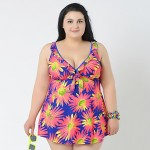 2019 New Brand Print Swimsuit Australia Two Pieces Bathing Suit Vintage Bathing Suit Plus Size Swimwear Australia For Big Women 4XL - 8XL
