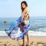 Contrast Color Pareo Beach New Fashion Beach Cover up Dress Swimsuit Australia Summer Print Beach Wear