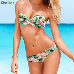 KissTies®Women's Sexy Floral Push Up Beach Swimwear Australia Bikini Australia Set