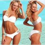 2019 Fashion Sexy Push Up With Chest Pad And Shoulder Strap Swimsuit Australia Two-Piece Bikini Australia Swimwear Australia For Women