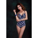 Women Straped One Pieces , Floral Push Up Padded Bras Underwire Bra Nylon Spandex Blue Green Red