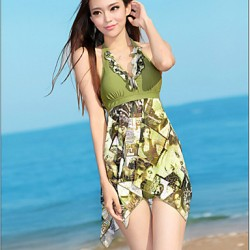 Women's Fashion New  Halter Keep Skirt One-pieces