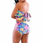 Women Colorful Tankinis,High Rise Floral Halter