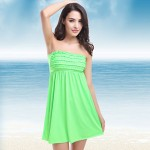 New Arrival Hot Wholesale Fashion Mini Ruffles Top Back Tied Bandage 2019 Sexy Bathing Suit Cover Ups11 Colors