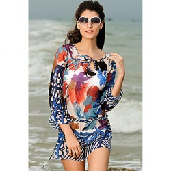 Fashion Bohemia Print Swim Dress