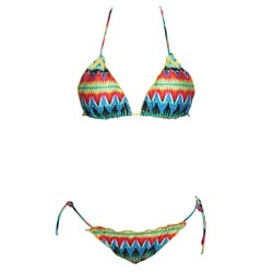 Women's Sexy Flounced Abstract Print Bikini