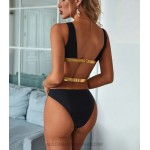 Women Two Piece Swimsuit Sexy Lace Up Hollow Out Push Up Bikini