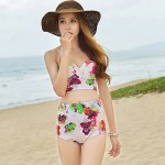 Fashion Women's Sexy High Waist Flower Print Push Up Bikini Australia Swimsuit