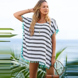 New Style Summer Beach Dress Cardigan 2019 Chiffon Striped Swimsuit Australia Beach Cover Up Swimsuit Australia Women Hot Sale Beachwear