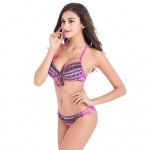 Women's Bohemian Style Ruffle Fringle Colorful Swimwear