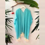 New Arrival Summer Style Chiffon Cover up women Clothing Blue Color Bikini Australia Cover up Good Quality 2019 Popular Beach Top