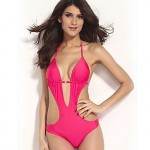 Women Polyester Push Up Halter Bikinis Australia One Pieces Cover Ups MSSY57