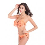 Women's Leaf Shape Fringle Triangle Bikini