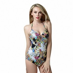 One Piece Foclassy Slim Fit Push Up Underwire Retro Vintage Halter Bathing Suit Swimsuit Australia Swimming Suit Swimwear