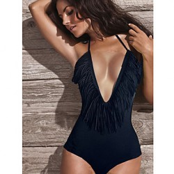 Women's Black Sexy One-piece Swimwear