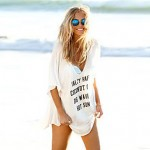 Women's Cheeky Letter Print Summer Cover Up