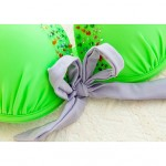 Women Nylon Spandex Push Up Padded Bras Underwire Bra Halter Bikinis Australia Swimwear