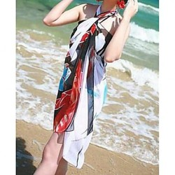 Women's Fashion Multi Print Chiffon Wrap Scarf Bikini Australia Swimwear Australia Swimsuit Australia Sarong Beach Cover-up