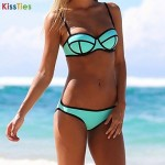 KissTies®Women's Neoprene Bikinis Australia Swimsuit Australia Set Push Up Bikini Australia Set Candy Colour