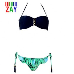 ZAY Women's Sweet Sexy Color Block Print Bikinis Australia Set