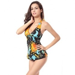 Free Shipping Hot Wholesale Vintage Allover Print 2019 Womens Swimwear Australia Tankinis M.L.XL