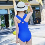 Sexy Fashion Women Back Cross Push Up One Piece Swimwear Australia Swimsuit