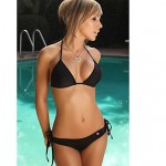 Women Bikinis Australia , Solid Underwire Bra Nylon Polyester Multi Color
