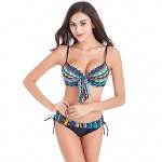 Women's Bohemian Style Triangle Fringle Colorful Bikini