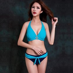 Women Halter Bikinis Australia , Solid Push Up Padded Bras Underwire Bra Nylon Spandex White Green Red