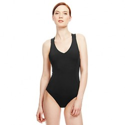 Women's Wireless Cross/High Rise/Solid Halter One-pieces (Acrylic/Spandex)