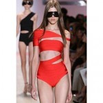 Women's One-shoulder Hollow-out Bandage One-piece Swimwear