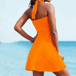 Women Bandeau Cover Ups , Solid Wireless Polyester White Purple Yellow Orange Red Black