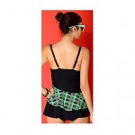 Women Push Up Padding One Piece Tankini Underwire Swimsuit Australia Skirt