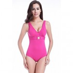 Free Shipping Vintage Buckled Center Removable Push Up Padding Plus Big Size XXXL One Piece Swimwear Australia Women
