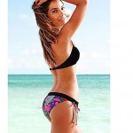 Women Bandeau Tankinis , Floral Bandage Push Up Wireless Padded Bras Cotton Blends Polyester Spandex Multi Color