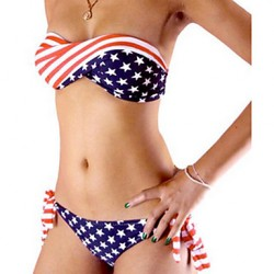 Muairen® Women'S  American Flag Patterned Bikini Australia Swimwear Australia In Europe And America