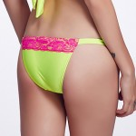 The Fille Women Sexy Lacy Color Block Low Rise Rose Red Fluorescent Green Triangle Bikini Australia Panties