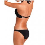 Women's Push-up/Underwire Bra High Rise/Solid/Bandage Halter Bikinis Australia (Nylon/Spandex)