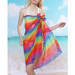 Women's Cover-Ups , Floral Chiffon Multi-color