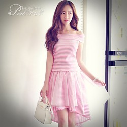 Pink Doll®Women's Bateau Casual/Lace Striped Suits