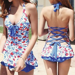 Women Others Push-up Halter One-pieces