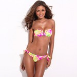 The Belle Of The Beach RELLECIGA Full Lined High Contrast Floral Blooming Pattern Bikini Australia Set With Mild Push Up Molded Foam Padding
