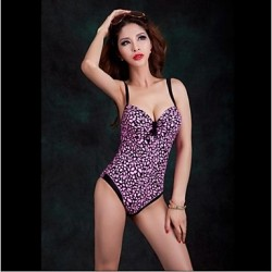 Foclassy® Women Push Up One Piece Floral Printed Slim Thin