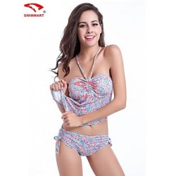 Women Halter Tankinis Multi Pieces Swimming Accessories Cover Ups Wireless Spandex Multi Color