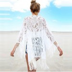 Best Choose Summer Style Beach Dress Deep v Neck Sexy White Beach Cover tassels lace Swimwear Australia Cover up