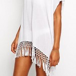 Good Quality Summer Style Swimsuit Australia White Chiffon Transparent Dress Swimsuit Australia Very Sexy and Wear Fitness Beach Cover up